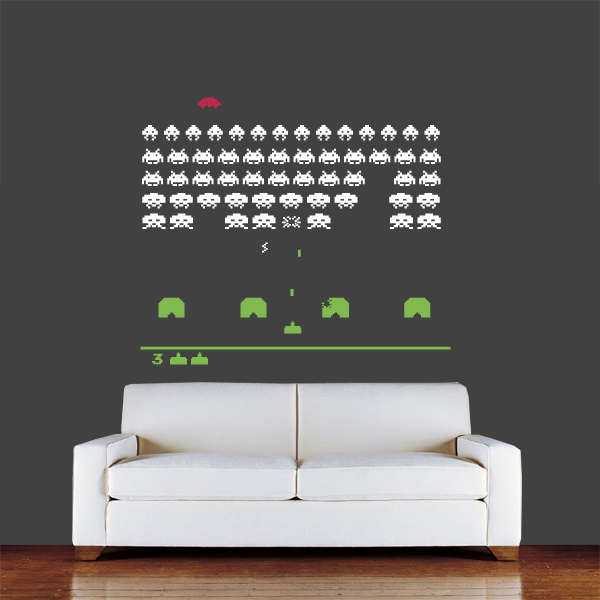 Sophie jenner vunk wall stickers - Space invader wall stickers ...