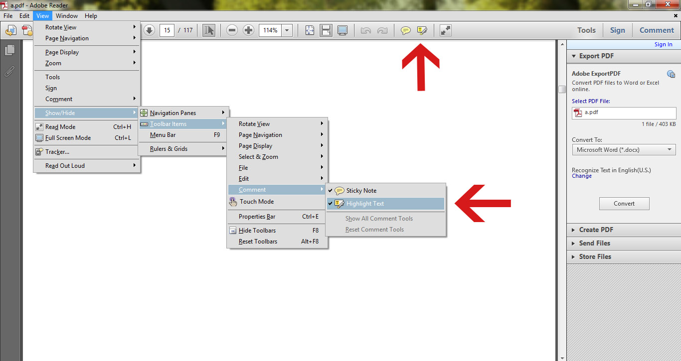 How To Edit Pdf In Acrobat Xi Afterwards, You'll Get A Permanent Toolbar