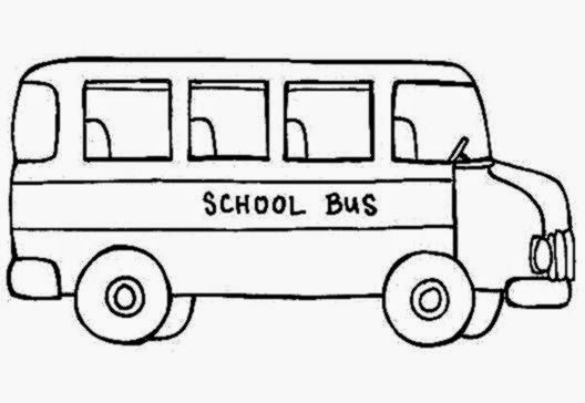A School Bus In Parking Lot Coloring Page Kids Play Color