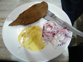 Fish Diamond Fry at Mitra Cafe Kolkata