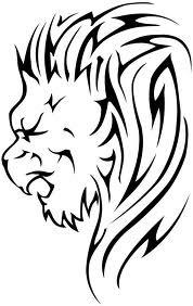 Motif Tato Singa Hitam Putih 33