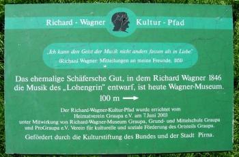 Richard-Wagner-Kulturpfad in Graupa