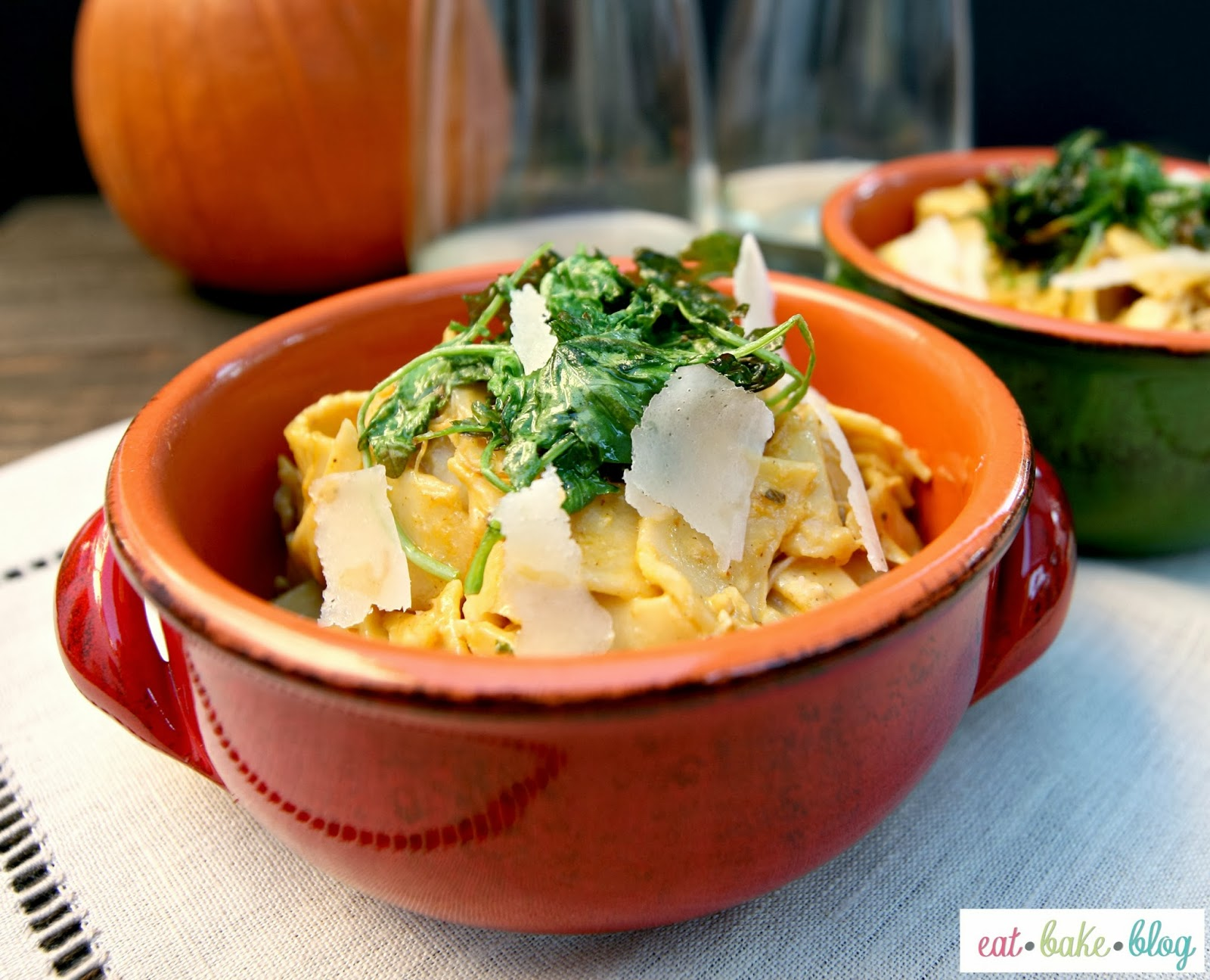 ... Blog.: Creamy Pumpkin Pappardelle With Braised Chicken And Crispy Kale