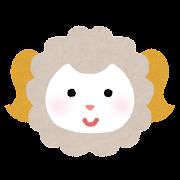 羊の顔のイラスト