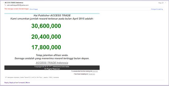 Penghasilan Tertinggi di Accesstrade.co.id