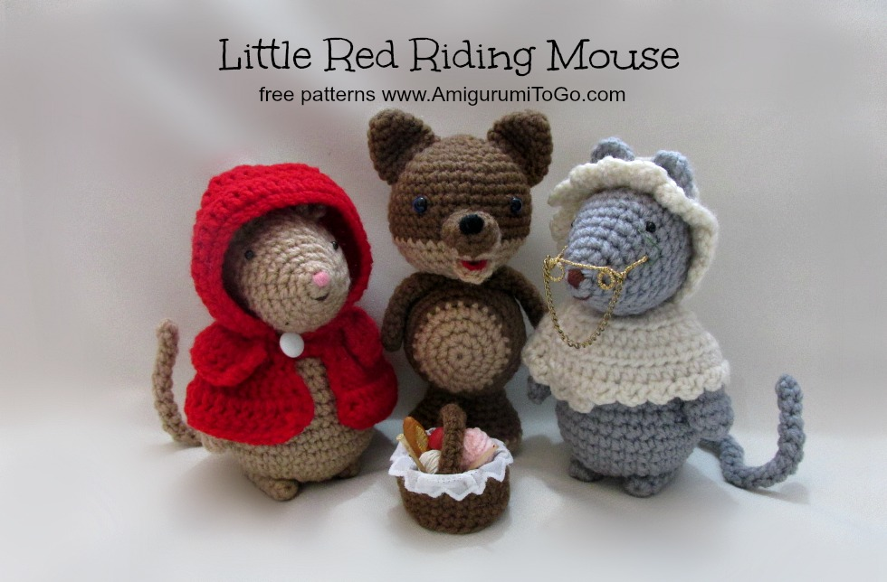 Amigurumi To Go Free Patterns : Some Pigs Wolf and Couple of Mice ~ Amigurumi To Go