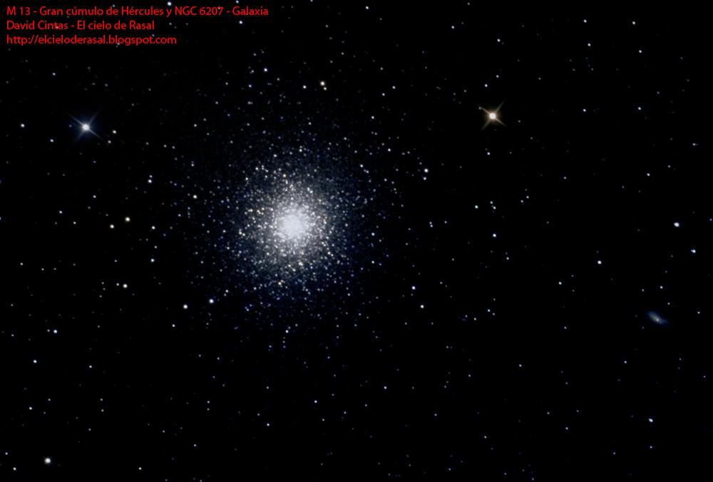M 13 Gran cúmulo de Hércules NGC 6207 - El cielo de Rasal