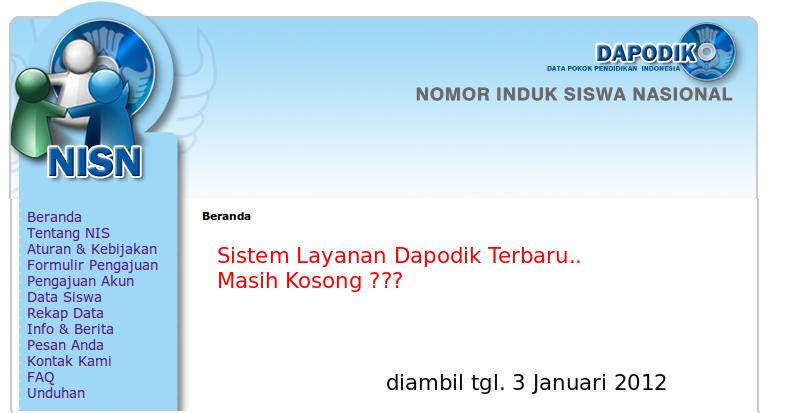 Label: Dapodik , NISN , NPSN , NUPTK