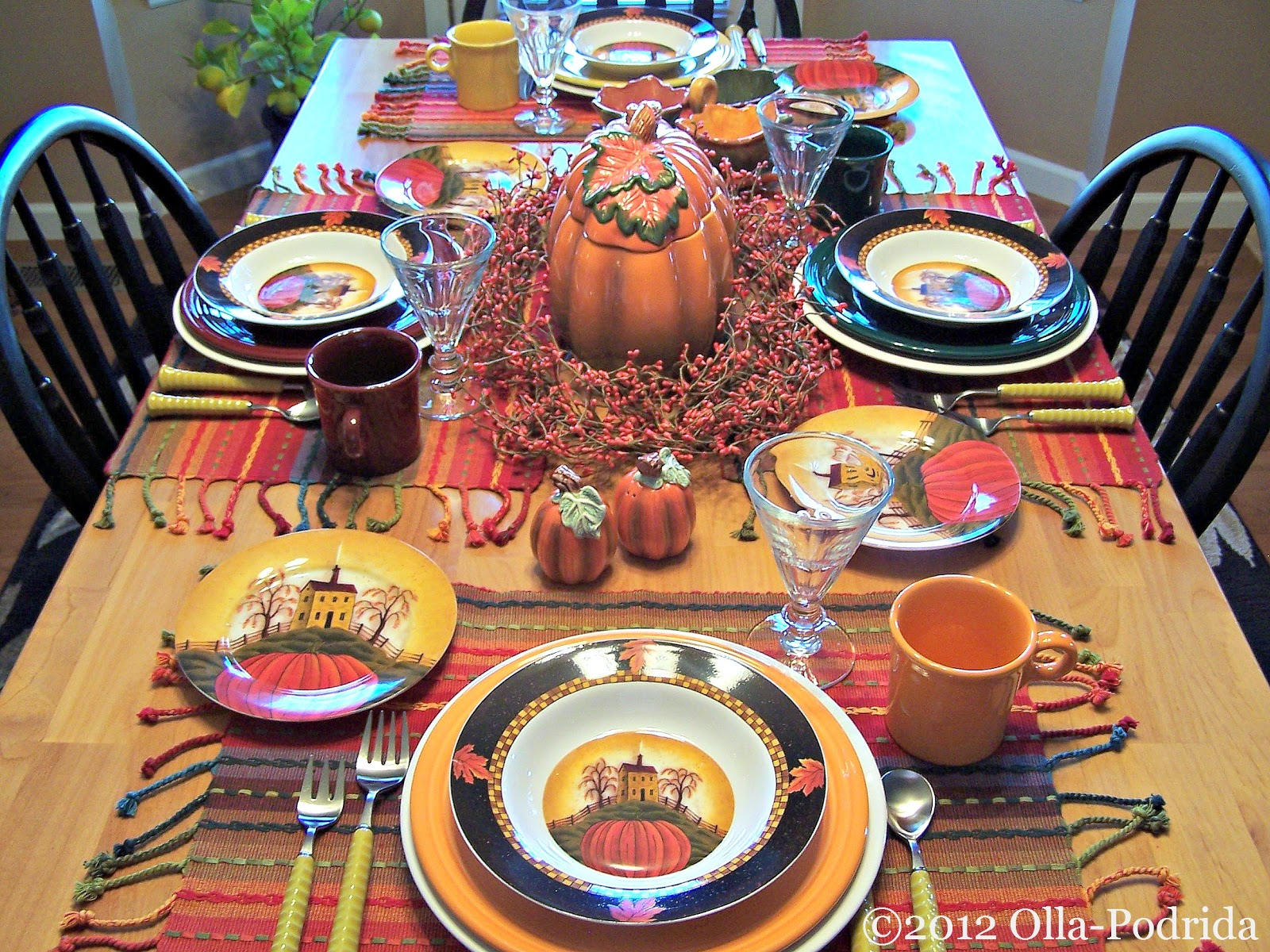 Wednesday October 17 2012 : harvest table settings - pezcame.com