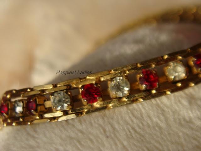 american diamond & red stone studded bracelet+stone bracelets
