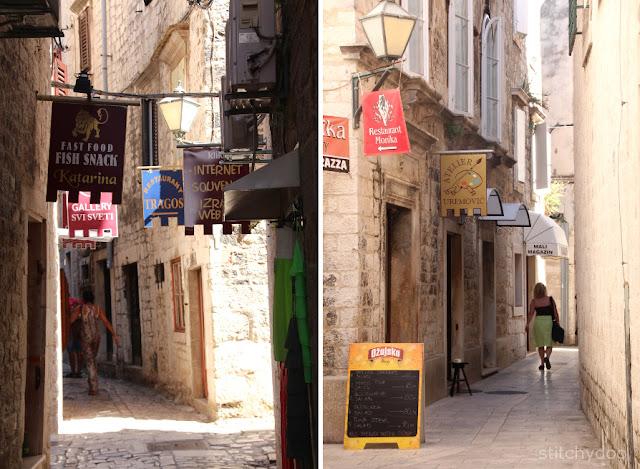 Trogir {Kroatien - Adria - Dalmatien} - Altstadt - enge Gassen