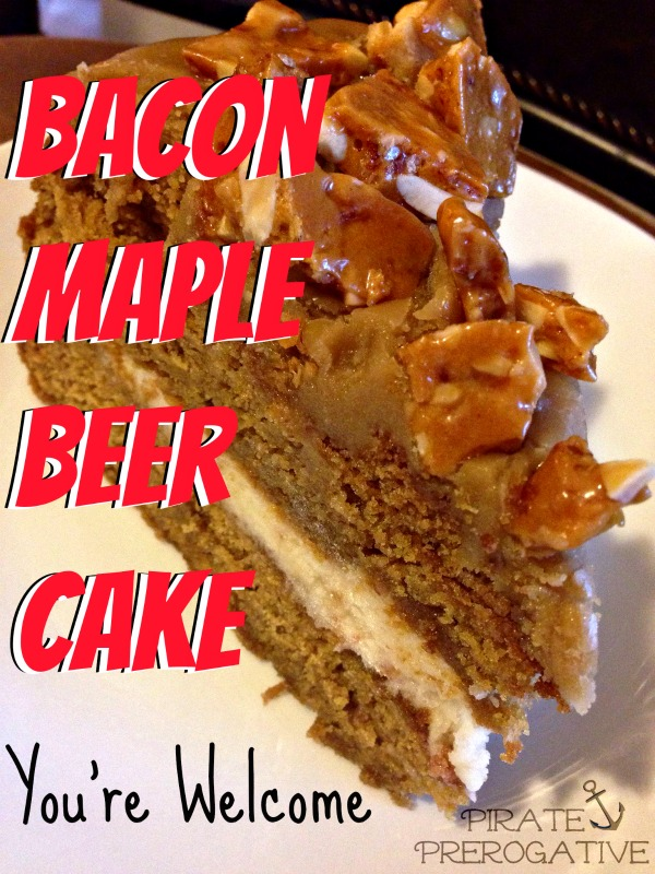 This is the perfect cake for dudes or any bacon lover. Maybe a good Father's Day treat?