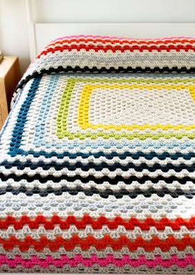 free crochet pattern granny square blanket