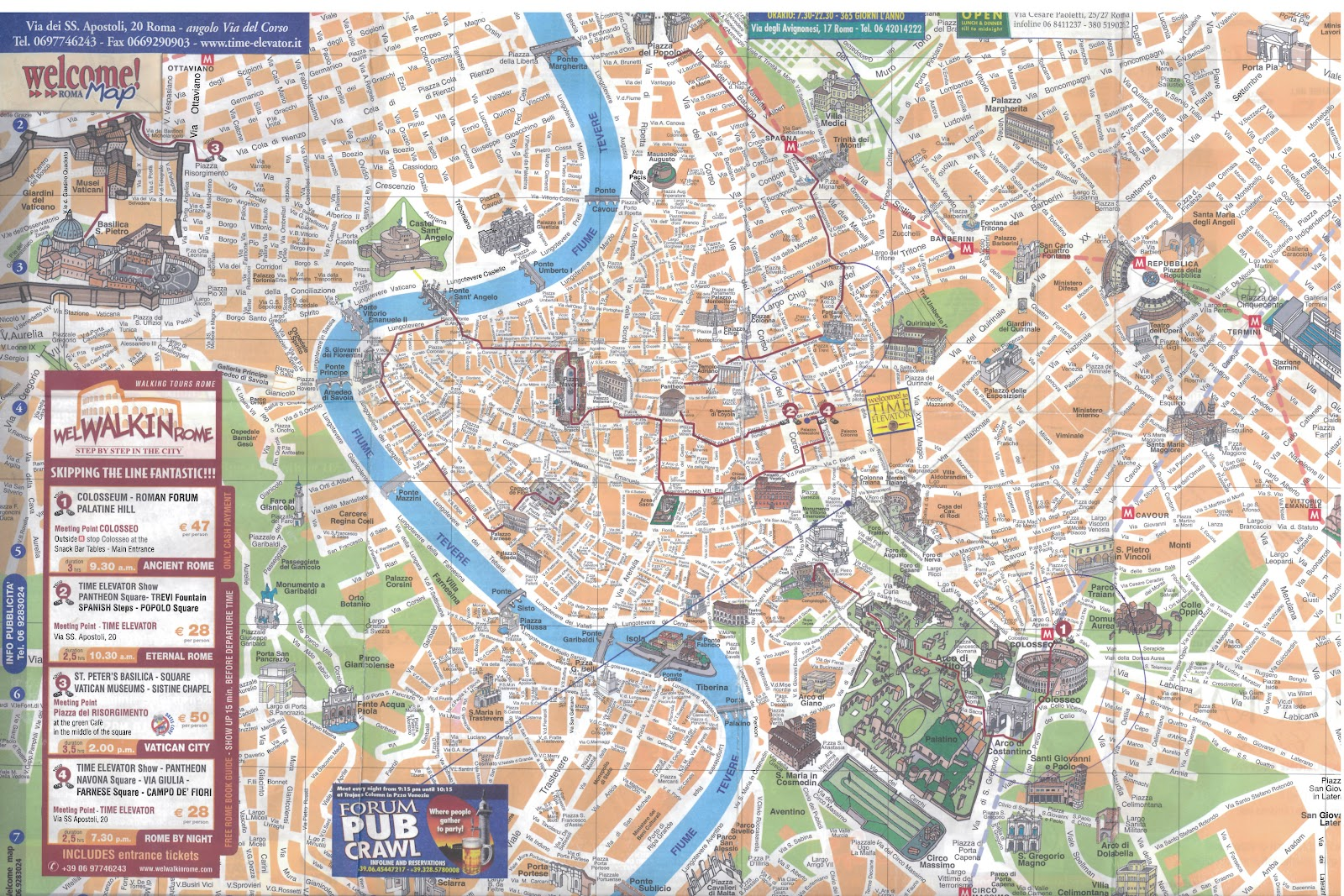Map of cities Map of Rome