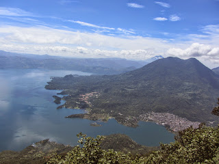 View of Lake Atitlan in Guatemala