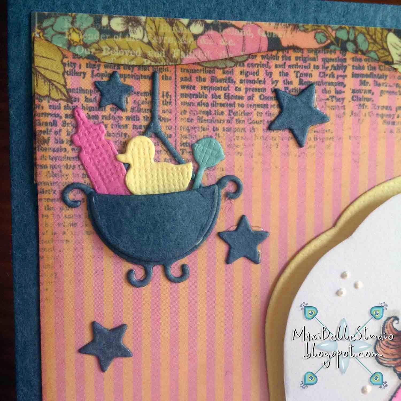 Poppystamps Hanging Flower Basket