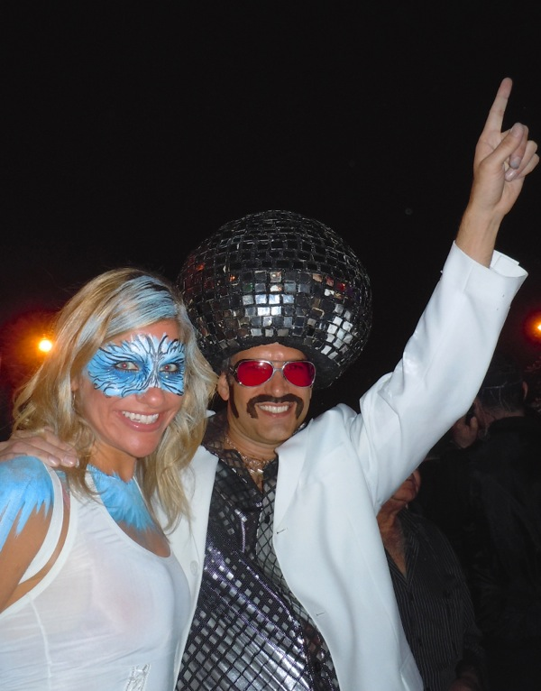Disco costumes West Hollywood Halloween 2011