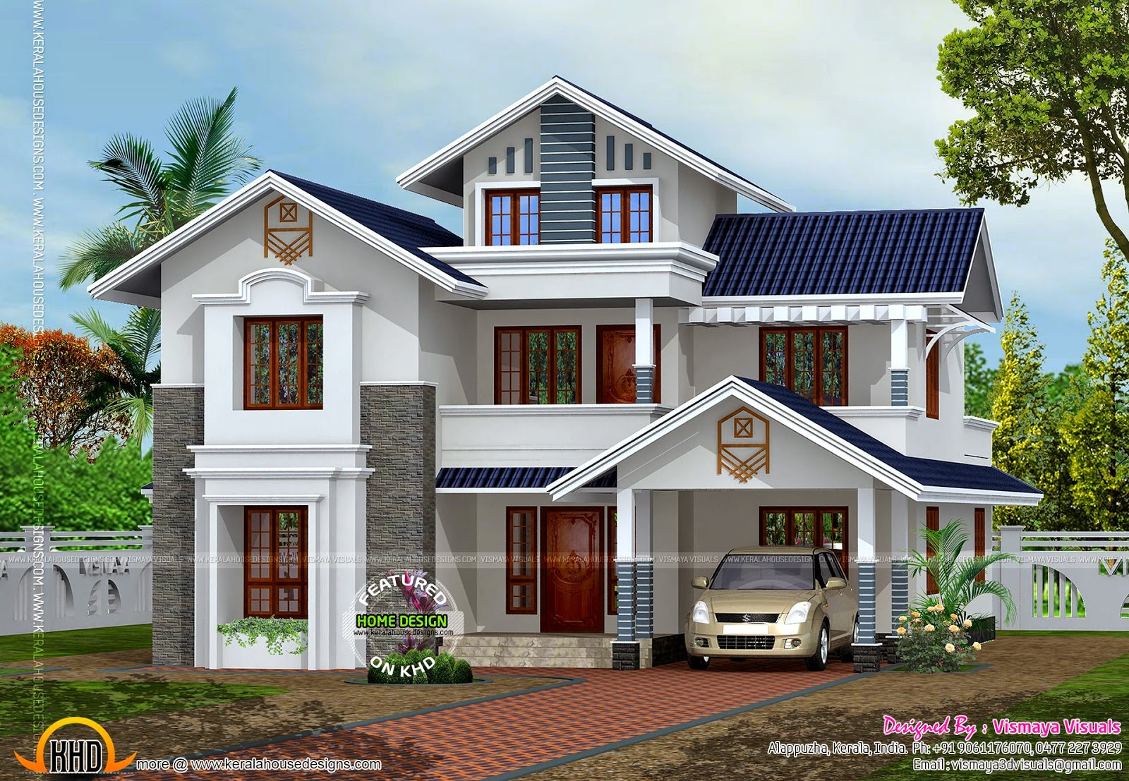 House plan of 249 square yards kerala home design and 200 yards house design