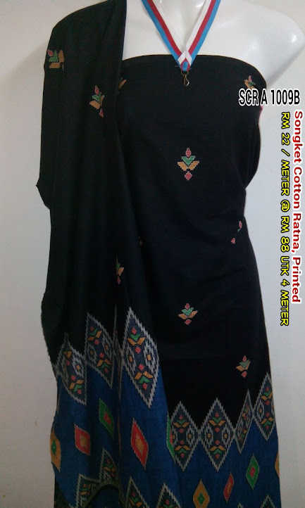 SCR 1009B : SONGKET COTTON RATNA, PRINTED