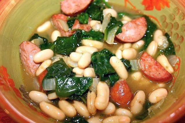 Sausage & White Bean Stew: simplelivingeating.com