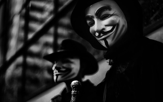 wallpaper topeng anonymous hd