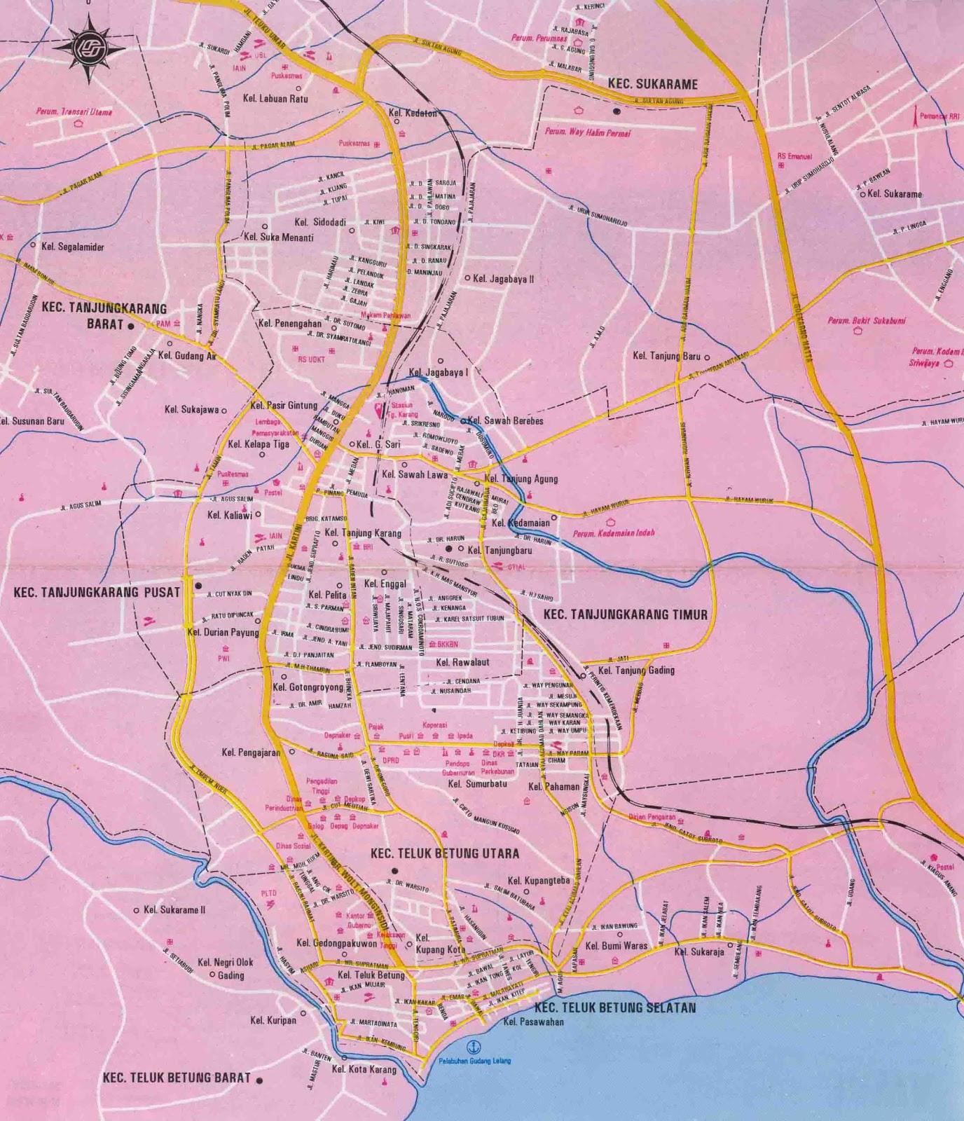 Bandar Lampung Indonesia  city images : BANDAR LAMPUNG CITY MAP