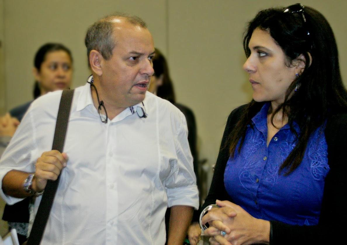 Tony Santiago, da ABIH-PA e Araci Coimbra,  diretora da TAP para Itália e Grécia. Thiago Figueira - Paratur