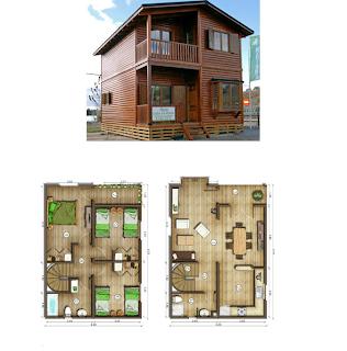 Casas de madera en espa a - Planos de casas de madera de una planta ...