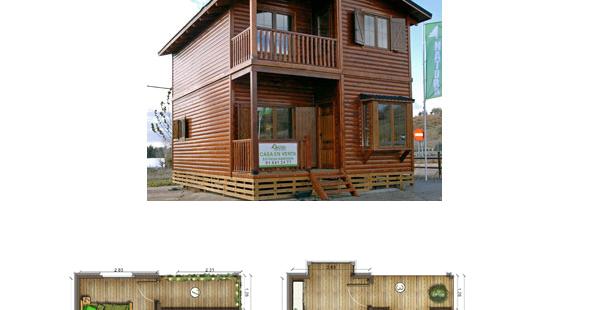 Casas de madera en espa a planos de casas de madera 100 m2 - Casas de madera en espana ...