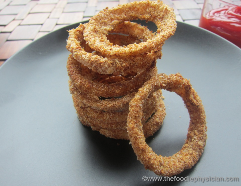Crispy Oven BakedOnion Rings