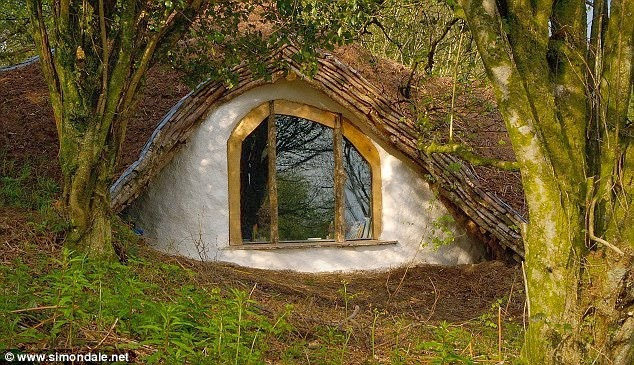 Man Builds Fairy Tale Home for His Family – Total Cost £3,000 - Hobbit Home Outside
