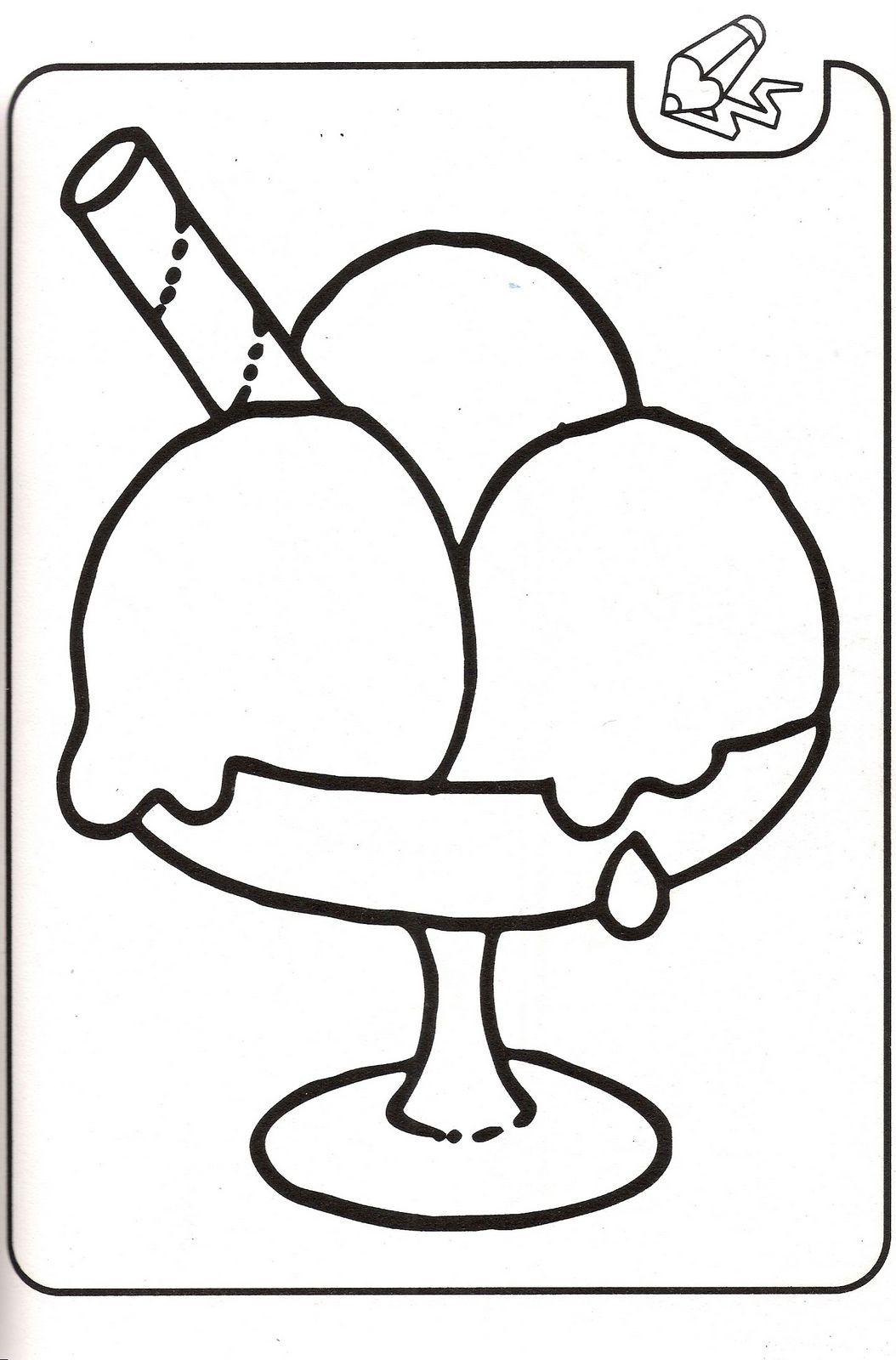 Dibujos para colorear Dibujos de helado para colorear