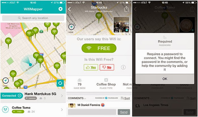 تطبيق لايجاد شبكات واي فاي المجانية لأجهزة آيفون