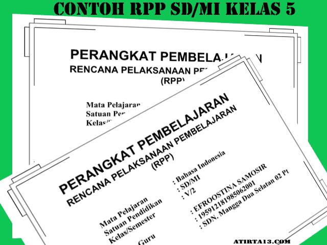 Kumpulan Download Contoh RPP KTSP Kelas 5 SD/MI