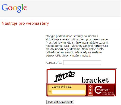 Zaindexování stránky do vyhledávače Google