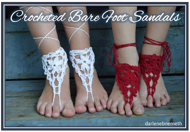 crochet pattern for barefoot sandals