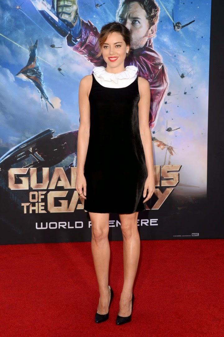 Aubrey Plaza in an Emporio Armani design at the 'Guardians of the Galaxy' LA premiere