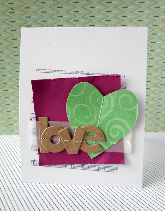 Chipboard Letters Card