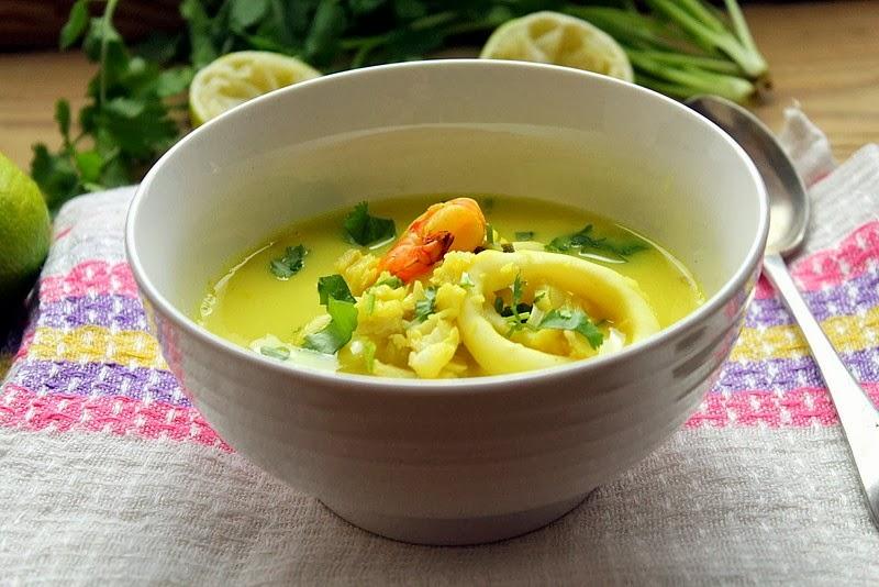 Kulinarna Pasja Hani Kasi Tom Kha Talay Tajska Zupa Z Owocami
