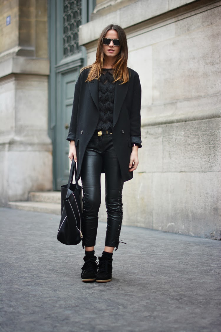 isabel+marant+sneakers,+zina+charkoplia,+leather+pants,+blazer,+paris,+december Isabel Marant pour H&M