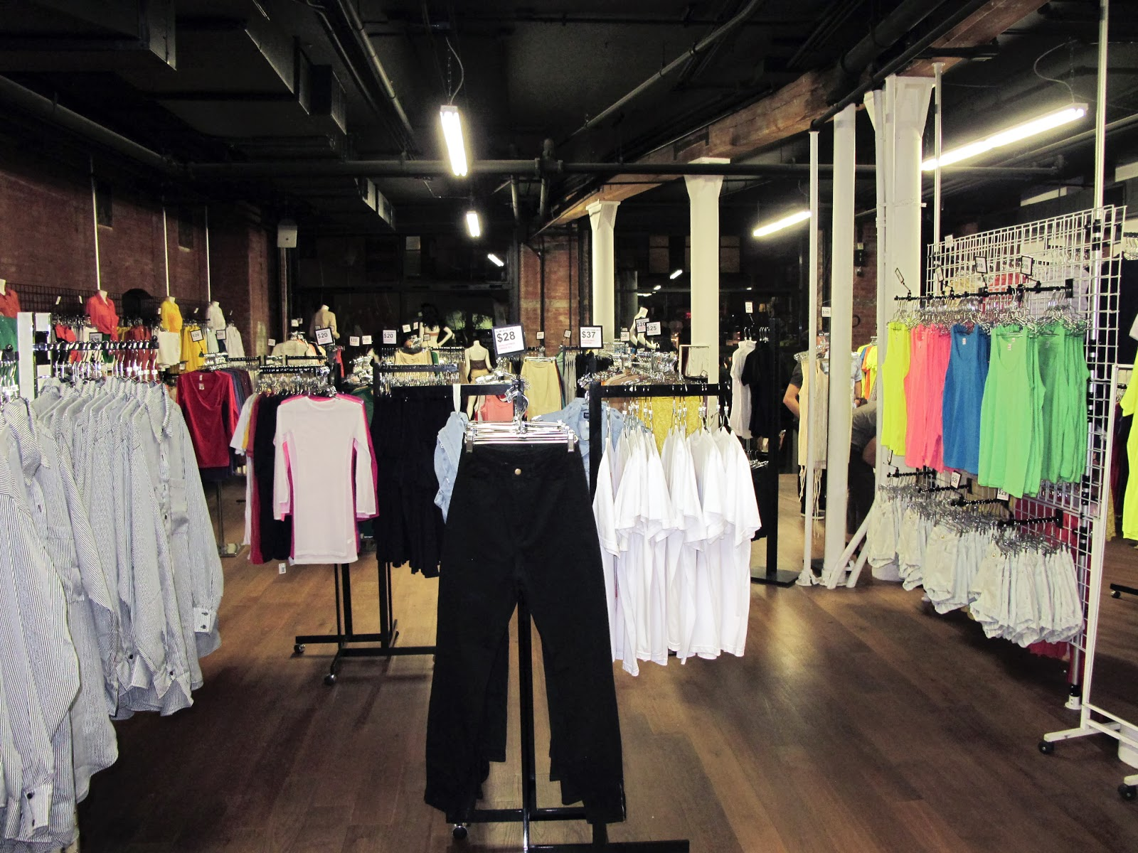 American Apparel — SoHo is located in the SoHo neighborhood of Manhattan. The historic SoHo neighborhood (