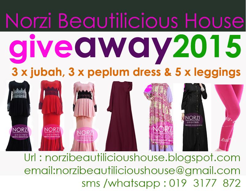 Giveaway 2015 Jubah dress leggings oleh Norzi Beautilicious House