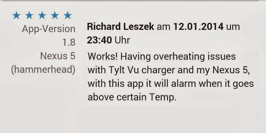 android temperature app  review