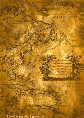 fondo grunge con mapa vintage