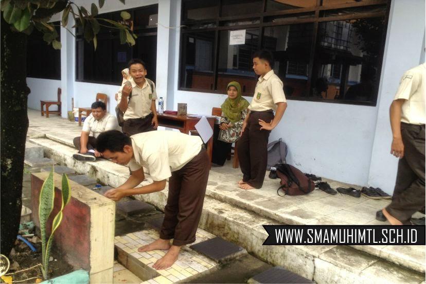 Ujian praktik thoharoh sma muhammadiyah 1 muntilan