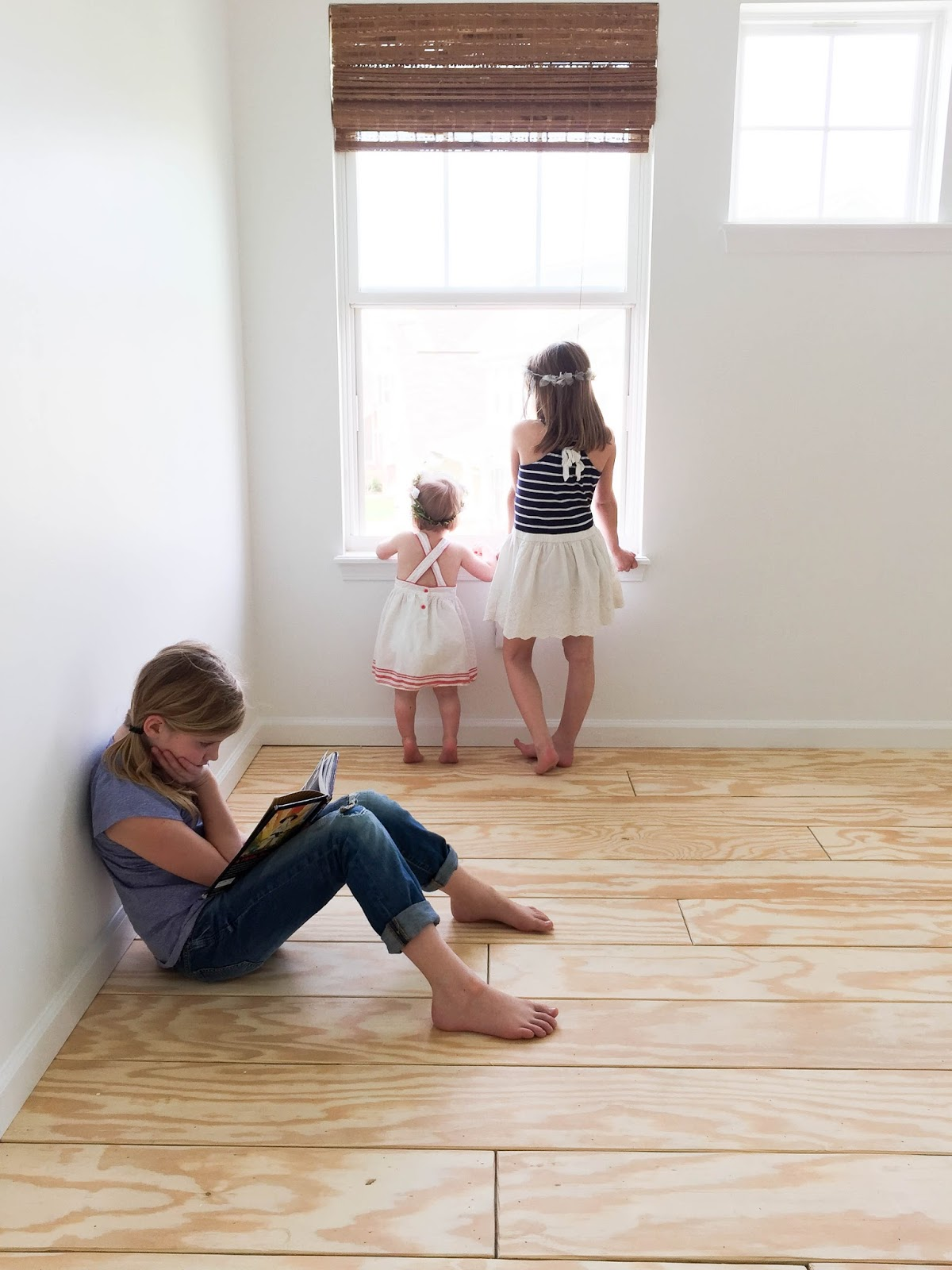 Diy planked floors house seven designbuild fast forward to the completed floor install giant empty rooms are so fun when youre a kid they played in here as much as they could before we had to solutioingenieria Images