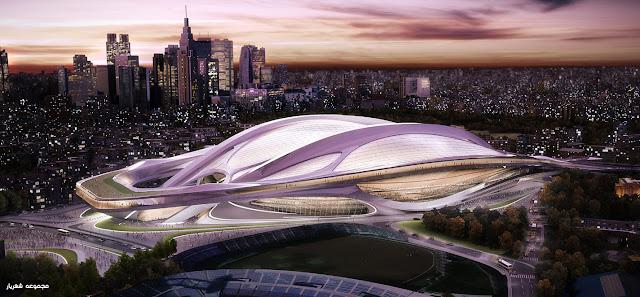 ملعب اليابان الحديث Zaha+Hadid+Tokyo+stadium