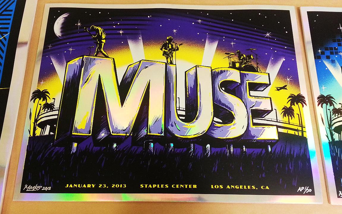 ROCK POSTER FRAME BLOG: Mark 5 Muse San Diego u0026 Los Angeles Posters ...