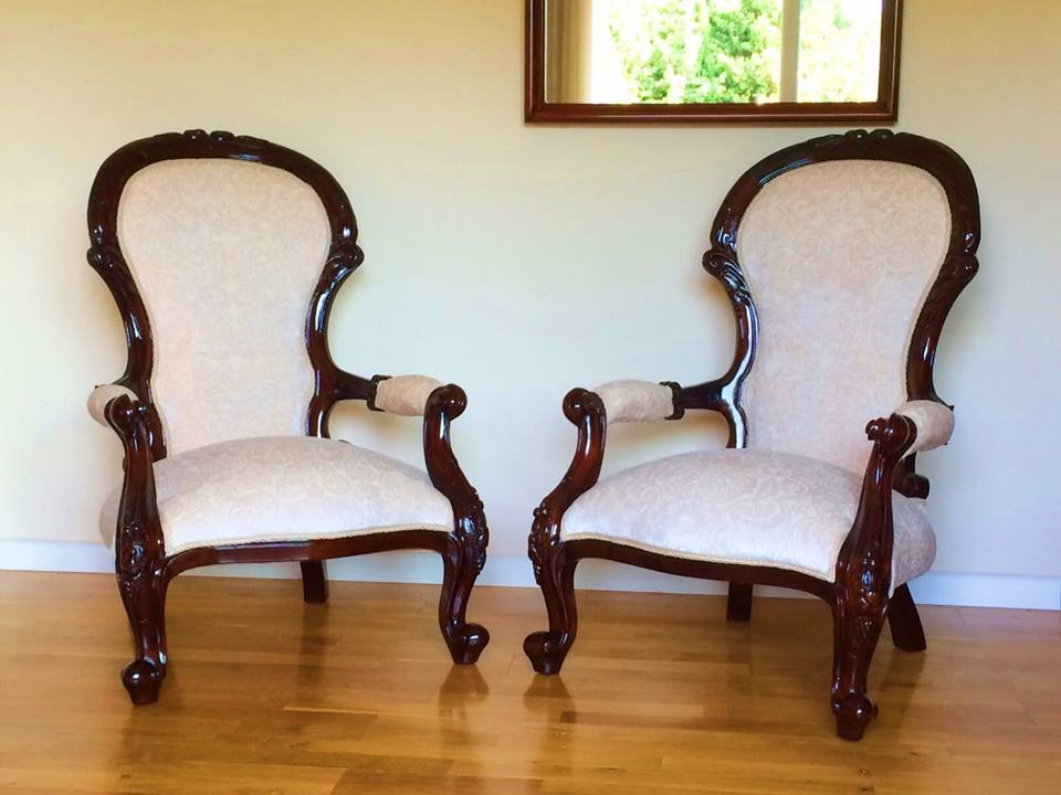 Sillones ingleses de caoba for Sillones clasicos ingleses