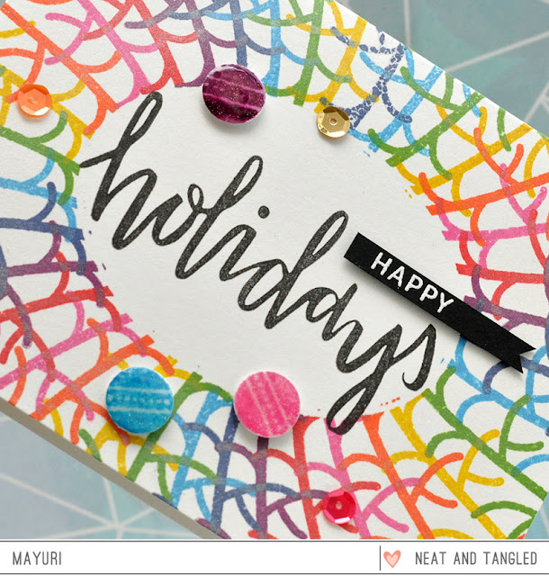 ©Candles in the Garden. Neat and Tangled November 2015 Release - Bright Baubles / Happy Holidays